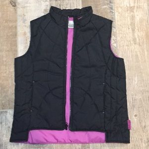 Nike black and pink puffer vest girls size 16